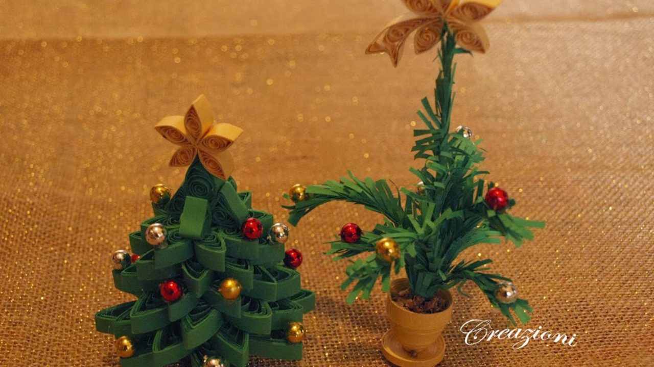 Albero Di Natale Quilling.Albero Di Natale Realizzato A Quilling Quilling Natalizio