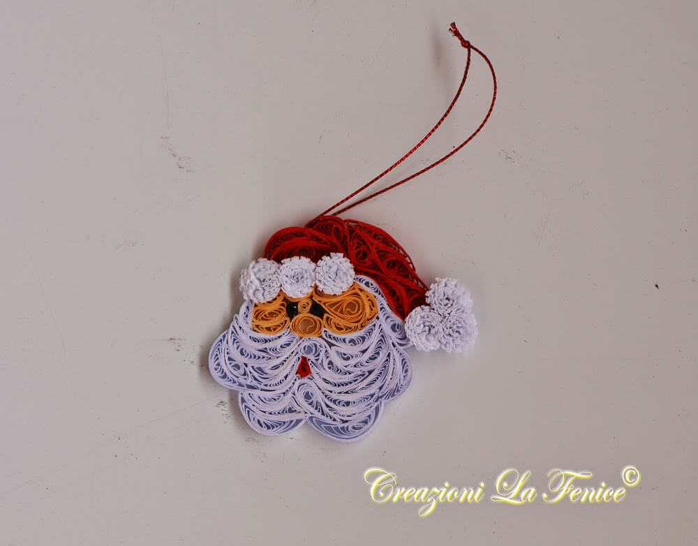 Babbo Natale a quilling