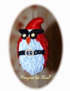 Gufo Natale a quilling da appendere