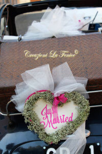 Cuore Just Married per macchina