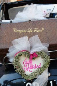 Cuore Just Married per macchina